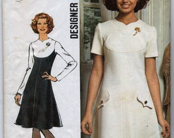 Misses' Designer Fashion Dress With Shaped Yoke Sewing Pattern - Simplicity 5344 - Size 12 - Bust 34