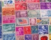 America The Beautiful 100 Vintage US Postage Stamps Americana Native American Folk Art United States Ephemera Scrapbooking Steampunk USA 2