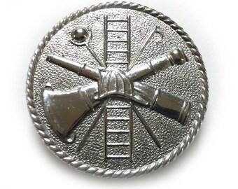 Vintage Firefighter Helmet Emblem Pin Emergency Medical Care First Responder Screw Pin Emblem for Helmet