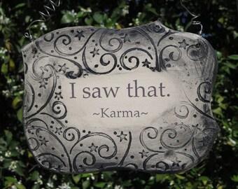 Karma Quote Handmade Ceramic Plaque