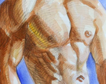 The Curious Case of Lord Elgin's Marbles, 9x12 inches watercolor on cotton paper, by Kenney Mencher