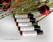 CHRISTMAS MEDLEY Perfume Sampler Set of Five Vials - Holiday Perfume - Winter Fragrance