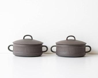 Vintage Danish Modern Dansk Flamestone Covered Casserole Dishes