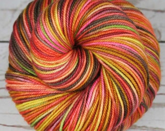 UKELELES: Superwash Merino-Nylon - Sport weight yarn - Hand dyed sport yarn - Indie dyed - Variegated sport yarn - Maui Hawaii inspired yarn