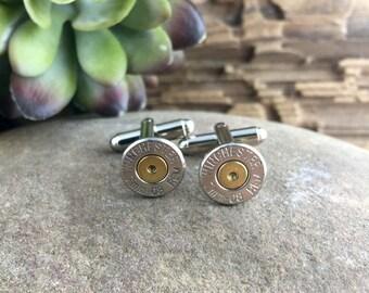 Bullet Cufflinks, 7mm-08 Nickel Bullet Cuff Links, 7mm-08 Cufflinks, Silver Cufflinks, 7mm Cufflinks, Wedding Cufflinks, Grooms gift