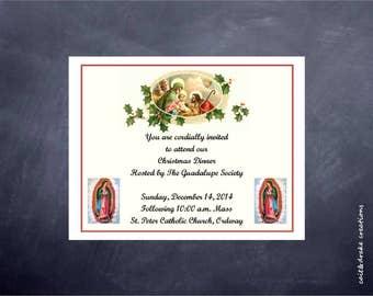 Church Dinner Party Invitation Printable Digital Christmas