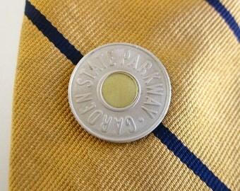 Garden State Tie Tack - Vintage Repurposed Transit Token Coin, NJ Parkway