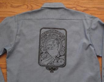 mens vintage Dee Cee Houlihan's old place work shirt