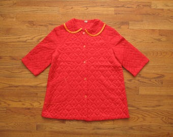 vintage quilted house coat