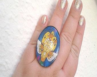 Sailor Moon Ring - Eternal Moon Brooch Ring - Sailor Moon Cosplay - Sailor Moon crystal