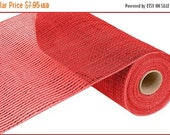 15%OFF 10 Inch Red Red Wide Foil Deco Mesh Roll RE134124, Deco Mesh Supplies