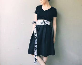 Bamboo: Chinese Ink Wrap Skirt