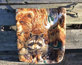 Brown North American Wildlife Pouches (Medicine Bag - Shamanic - Nature - Animals)
