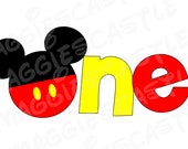 VINYL Decal - DIY Iron On - Mickey Silhouette with Button Pants