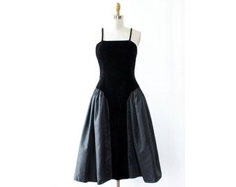 Poofy Velvet Dress XS/S • 80s Dress • Taffeta Dress • Vintage Black Dress • Prom Dress Vintage • Vintage Cocktail Dress • Satin Dress |D1154