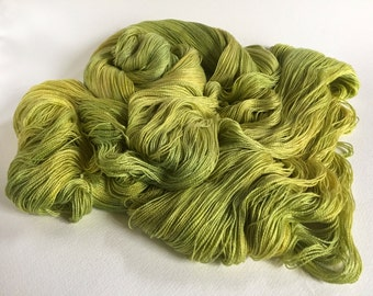 Leah. Silk / Cotton Lace Yarn. Sulphuric Spring