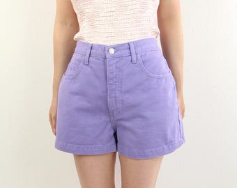 VINTAGE Guess Jeans Denim Shorts Purple High Rise