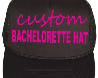Personalized Bachelorette hats . Bachelorette Trucker Hats . Snap Back Bridal Party Hat . Bachelorette Party Favors . Beach Bachelorette