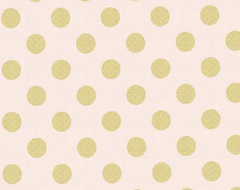 Christmas Sale Quarter Dot Pearlized in Confection by Michael Miller Fabrics - Half yard