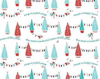 On Sale Pixie Trees in White by Riley Blake Designs 1 Yard