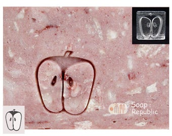 SoapRepublic Small Apple Acrylic Soap Stamp / Cookie Stamp