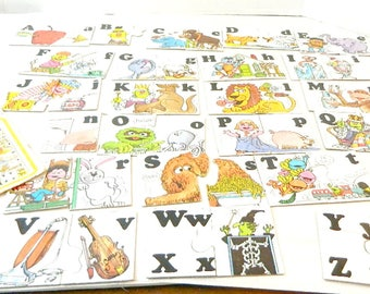 Vintage Sesame Street Alphabet Match Up Game SOLD AS IS