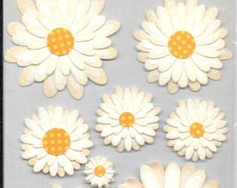 K & Company - NEW - Wild Saffron Daisies - 3 D stickers - (#2238) Flowers