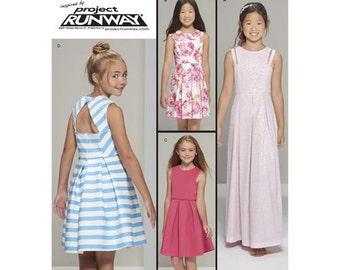 Simplicity Sewing Pattern 8307 AA Girls' / Girls' Plus Dress Project Runway New UNCUT