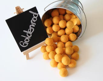Felt Balls- Goldenrod Yellow- 20mm-Pk of 20