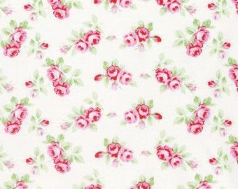 Rambling Rose - White Rosebuds by Tanya Whelan for Freespirit Fabrics