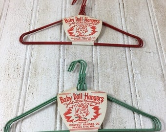 Vintage Baby Doll Hangers by Midwest Hanger Mfg. Co.