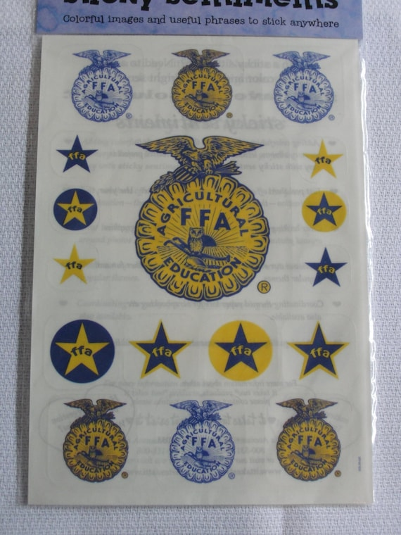 FFA emblem sentiment stickers for scrapbooking