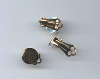 10 mm  Flat pad gold plated Ear Clip (qty 10)