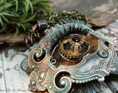 Oculus : Naga - Mixed Media Art Jewelry