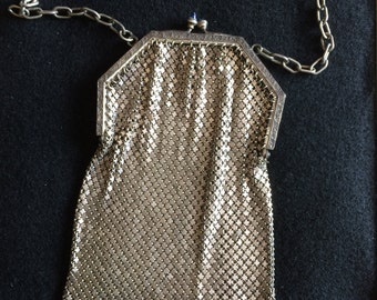 Whiting and Davis Silver Metal Mesh Purse