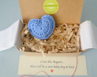Baby Boy Gender Reveal, Pregnancy Announcement, Gender Reveal Box,  Baby Boy Announcement, Baby Shower Gift, Blue Heart, Daddy Reveal, Heart