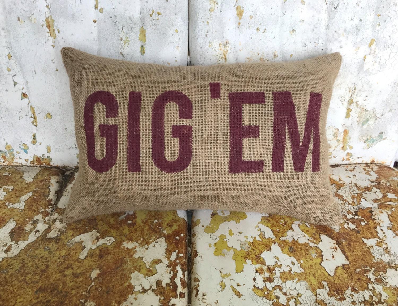 Texas A Amp M Aggies Gig Em Aggie Pillow Collegiate Decor