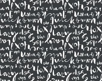 Typography by Cloud 9 - Script in Black (1456-99) - 1 yard - Cloud 9