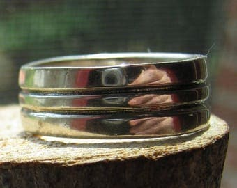Vintage Sterling Silver Men's Ring or Wedding Band Size 11