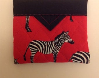 Zebras Quilted Fabric Mini Snap Bag Purse Pouch 5 X 4