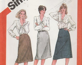 Skirt Pattern Slim-fitting, Zipper, Waistband Misses Size 20 Waist 34 uncut Butterick 5788