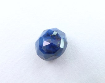 Blue SAPPHIRE. 100% Natural. Blue Unheated / Untreated. Oval Rose Cut. Freeform. Can Be Drilled. Geometric. 6.7cts. 10x9x7 mm (S2058)