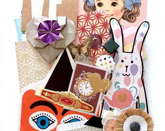 Odd and pieces Scrap Pack part 2- New and Vintage paper ephemera 1