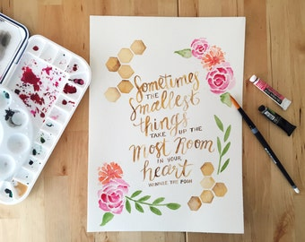 Custom Personalized Watercolor Quote Painting - Original