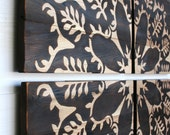 Into the Forest - Large Wood Burned Wall Art  32 X 32 inches - 4 Panels