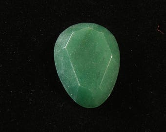 Green Aventurine Quartz Cabochon 29x22mm Pear Shape with 5.92mm Dome 29ctw #0206