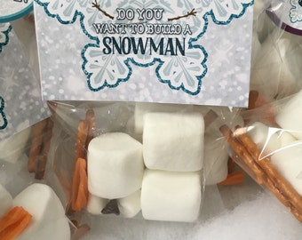 Do You Want To Build A Snowman Favor Bag Topper Instant Download by Beth Kruse Custom Creations
