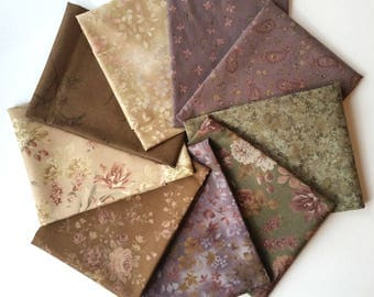 Fat Quarter Bundle - Evening Mist from Sentimental Studios for MODA - 9 Fat Quarters