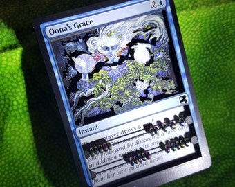 Layer Art- 3D- Life Counter: Oona's Grace - Magic the Gathering