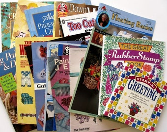 Craft Book Lot of 17 - Aleene's, Painting, Stamping, Wire, Ornaments, Jewelry, Altered Clothing, Window Fashions ON SALE